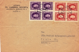 Bratislava 1939 Prague Praha Gabriel Kutcha Tchécoslovaquie Slovenska Posta Československo Slovakia Halierov - Slowakije