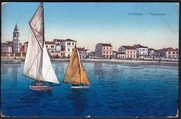 Croatia Fasana, Fazana 1917 / Panorama, Sailing Boats, Church / KuK Marine Feldpostamt, Feldpost / Zensure - Croatie