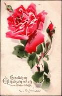 !  Alte Ansichtskarte Rose Sign. C. Klein, Catharina Klein, Geburtstag, Amag No. 1217 - Klein, Catharina