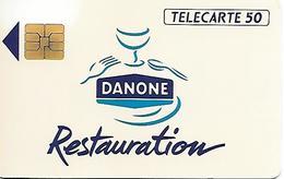 CARTE=-PRIVEE-50U-01/93-EN586-SO3-DANONE RESTAURATION-UTILISE-TBE - France