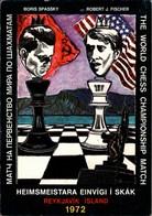 ! Ansichtskarte, Schachspieler Boris Spassky, Robert Fischer, World Chess Championship, Echecs, Reykjavik, Island, Skak - Schach