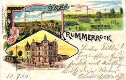 Aachen / Krummerrück, Farb-Litho Mit Restaurant Und Dampfziegelei, 1901 - Aachen