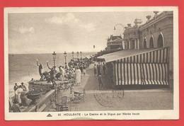 """C.P.A.  (14)  """" HOULGATE """"  Le Casino Et La Digue Par Marée Haute (animée)  -Voir 2 Photos - Houlgate"""