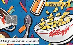 CARTE=-PRIVEE-50U-07/93-EN 693-SC7-KELLOGGS-UTILISE-TBE - France