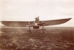 Pionnier De L'Aviation Russe Boris Rossinsky Monoplan Hanriot Ancienne Photo 1911 - Aviation