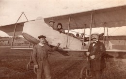 Russie Moscou Aviation Farman Dux Alphonse Poiree Et Passager Ancienne Photo 1914 - Aviation