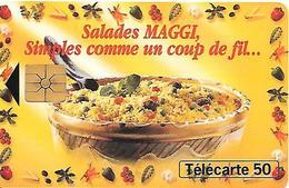 CARTE=-PRIVEE-50U-04/95-EN1194-GEMA-SALADES MAGGI-R°Glacé-UTILISE-TBE - France