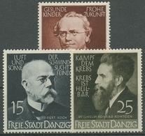 Danzig 1939 Ärzte Und Naturforscher: Mendel, Koch, Röntgen 306/08 Mit Falz - Danzig