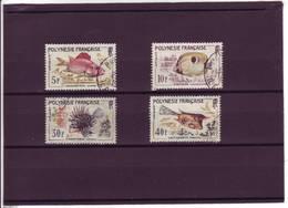 POLYNESIE FRANCAISE N° 18 / 21 POISSONS  1962 - Französisch-Polynesien