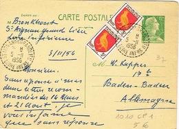 France Entier Postal Stationery Pret A Poster Carte Postale Cachet Staignan De Grandlieu Loire Inferieur Oiseau Aunis 56 - Standard Postcards & Stamped On Demand (before 1995)