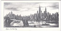 Skyline New York City - New Year - Santa Claus