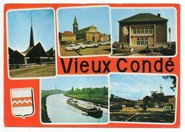VIEUX CONDE  -- 1976 -- Multivues  (mine,canal Avec Péniche,église....)--blason - Vieux Conde