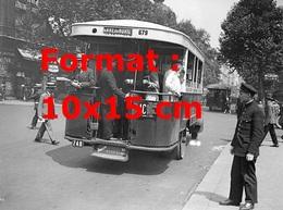 Reproduction D'une Photographie Ancienne D'un Bus Parisien Ligne Gare Du Nord En 1929 - Reproductions