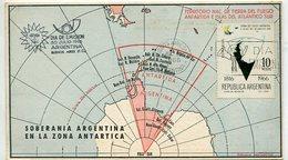TARJETA SOBERANIA ARGENTINA EN LA ZONA ANTARTICA MATASELLO DIA DE EMISION 1966 BUENOS AIRES ARGENTINA FDC -LILHU - Poolfilatelie