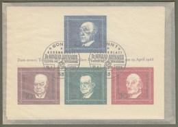 """Bund: Minister-Ersttagsblock Dollinger, Mi-Nr. 554-57, Bl. 4, ESST: """" Todestag Konrad Adenauer """", Auflage 20 Stück !!  X - Blocchi"""