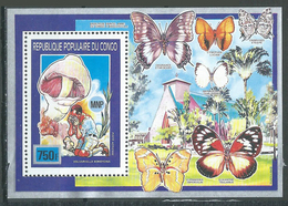 Congo Bloc-feuillet YT N°46 Scoutisme, Champignons Et Papillons Neuf/charnière * - Congo - Brazzaville