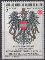 ORDRE DE MALTE - Convention Postale Avec L'Autriche - Malte (Ordre De)