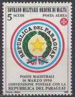 ORDRE DE MALTE - Convention Postale Avec Le Paraguay - Malte (Ordre De)