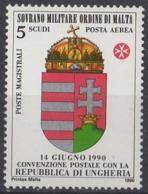 ORDRE DE MALTE - Convention Postale Avec La Hongrie - Malte (Ordre De)
