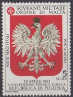 ORDRE DE MALTE - Convention Postale Avec La Pologne - Malte (Ordre De)