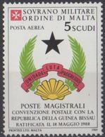ORDRE DE MALTE - Convention Postale Avec La Guinée-Bissau - Malte (Ordre De)
