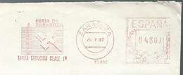EMA METER STAMP CUT SPAIN FERIA ZARAGOZA 1987 - Fabbriche E Imprese