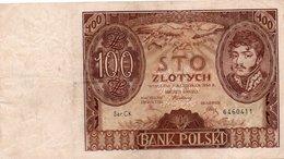 POLSKA-100 ZLOTYCH 1934 P-75 XF - Polonia