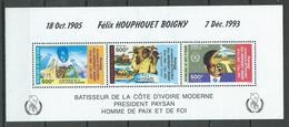 Cote D'Ivoire Bloc-feuillet YT N°32 Président Félix Houphouet Boigny Neuf/charnière * - Ivory Coast (1960-...)