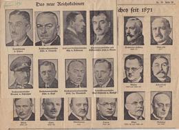 Das Neue Reichskabinett - Die Kanzler Des Deutschen Reiches Seit 1871 - Zeitung Von 1931 (37139) - Politique Contemporaine