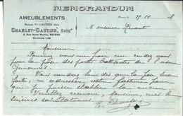 Ameublements Charlet Gautier Successeur. Nevers. Maison Vve Gautier Aîné. 1918. - France