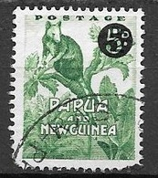 1959 5d Grizzled Tree Kangaroo - Surcharged, Used - Papoea-Nieuw-Guinea