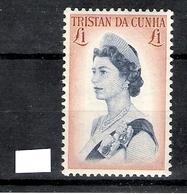 Tristan Da Cunha 1967 Ship Definitive £1 MNH CV £10 - Tristan Da Cunha