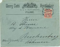 Croatia Rijeka Fiume 1900 / Georg Catti, Apotheker / KuK Hof Lieferant - Kroatien