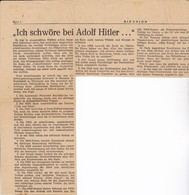 Arikel über Die Nationale Reichskirche Von A. Hitler - Die Union, Dresden 1947  (37143) - Revistas & Periódicos