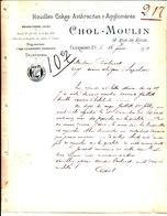 Houilles Cokes Anthracites Agglomérés. Chol Moulin. Clermont Ferrand. 1910 - France