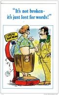 BE44.Heineken Comic Postcard.Talking Scales. Not Broken, Just Lost For Words! - Advertising