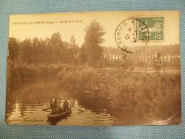 CPA - NOUVION-LE-COMTE - BORDS DE LA SERRE - BARQUE - Animée - Sépia - 1910 - - France