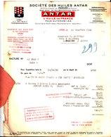 Société Des Huiles Antar. L'huile De France. Agence Lyon. 1942. - France