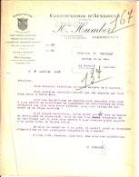 Confiturerie D'Auvergne. Fruits Confits. Conserves. Honoré Humbert. Usuine à Vapeur. Clermont Ferrand. 1918 - France