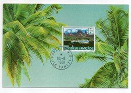 Polynesie Française  -- 1991 -- Carte Maximum  -- Cachet  PAPEETE  R.P - Cartes-maximum