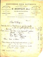 Menuiserie Pour Batiments. E. Boffait. Ancienne Maison Merlin. Nevers. 1903 - France