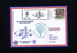 Germany 2000 Meteorology Ballonpost Interesting Postcard - Climat & Météorologie