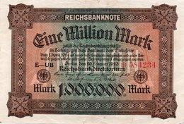 GERMANIA-REICHSBANKNOTE-1 MILL MARK 1923-UNIFACE - [ 3] 1918-1933 : Repubblica  Di Weimar