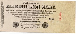 GERMANIA-REICHSBANKNOTE-1 MILLIONEN MARK 1923-UNIFACE - [ 3] 1918-1933 : Repubblica  Di Weimar