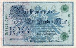 GERMANIA-REICHSBANKNOTE-100  MARK 1908 - [ 3] 1918-1933 : Repubblica  Di Weimar
