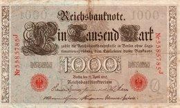 GERMANIA-REICHSBANKNOTE-1000  MARK 1910 - [ 3] 1918-1933 : Weimar Republic