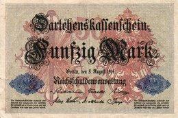 GERMANIA-REICHSBANKNOTE-50  MARK 1914 - [ 3] 1918-1933 : Repubblica  Di Weimar