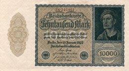 GERMANIA-REICHSBANKNOTE-10000  MARK 1922 - 10000 Mark