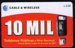 PANAMA PHONECARD C & W 10 MIL 1  CHIP SC7 USED B/3.00 - Panama