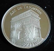 ARC DE TRIOMPHE PARIS LES PLUS BEAUX TRESORS DU PATRIMOINE DE FRANCE MEDAILLE JETON TOURISTIQUE - Tourist